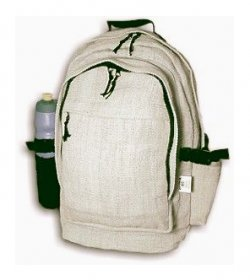 Deluxe Backpack with Laptop Storage, Organic Hemp
