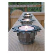 Tea Light Candle Holder, Recycled